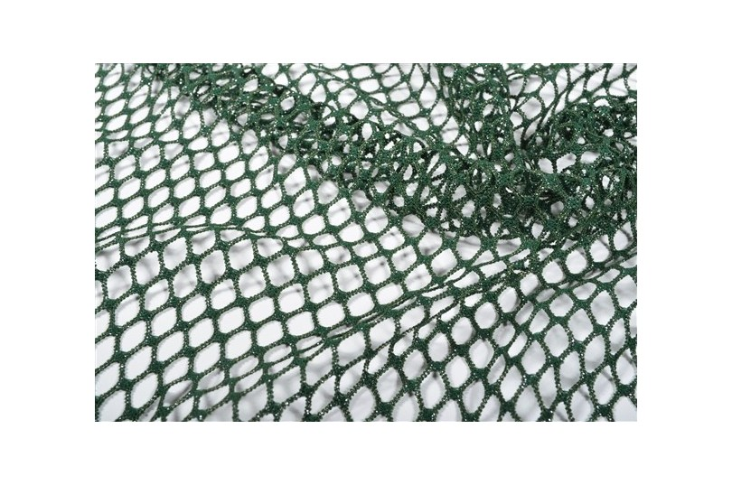 Maille stretch style filet vert