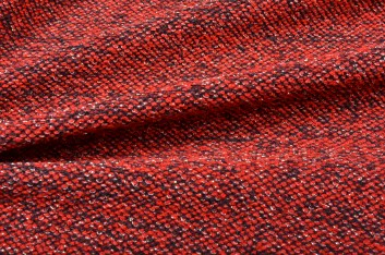 Maille tweed rouge