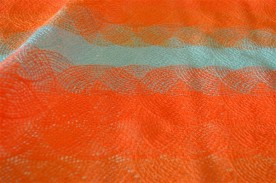 Dendelle fluo orange motif arrondi