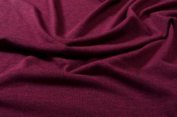 Coupon de jersey chiné fushia